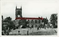 REAL PHOTOGRAPHIC POSTCARD OF STONE CHURCH, (NEAR STOKE-ON-TRENT), STAFFORDSHIRE
