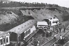 Vintage Reproduction Postcard, Railway Accident at Diggle, Yorkshire 1923 64A