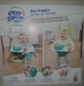 Evenflo 60522223 Excersaucer Tiny Tropics 2-in-1 Baby Seat & Door Jumper