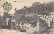 MONTE-CARLO 786 escalier montée de la gare timbrée monaco 1907