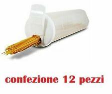Set 12 Pezzi Contenitore Porta Spaghetti Pasta Con Tappo Doppio Dosatore moc