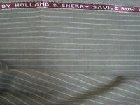 "4 yd HOLLAND SHERRY WOOL FABRIC Cool Wool Super 100s 7 oz SUITING 144"" BTP"