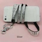 1pc Rhinestone Glitter Crystal Jewelry Wrist Ianyard Strap Key Chain Badge ID