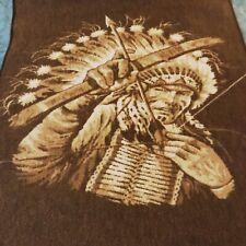 Throw Blanket Reversible American Warrior Bow Arrow 2 Side 58x77