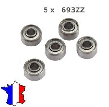 5 x Ball Bearing 693 ZZ, Roulement à Billes 3 x 8 x 4mm 693ZZ , 3*8*4 modelisme