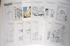 25 catálogos: comic-dibujos originales/original art, con precios u. abbildu
