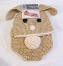 Crochet Baby Diaper Cover hat set Bunny Rabbit EASTER SPRING 0-9mo photo prop