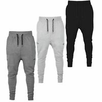Mens Designer Drop Crotch Skinny Slim Fit Stretch Joggers Bottoms Trouser Pants
