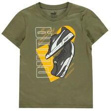 Nuevo con etiquetas camiseta Sneekers impresionante chicos Puma Color Olivino