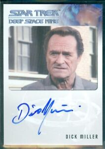 Star Trek Deep Space 9 Heroes & Villains Dick Miller as Vin  Autograph Card