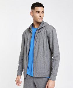 Nike Mens Size M Yoga Dri Fit Hyperdry Full Zip Grey Hoodie
