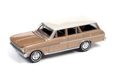 1963 Chevrolet Nova Station Wagon  Saddle Tan *RR* Auto World Premium 1:64 NEU