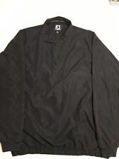 Men's FootJoy Jacket XXL Windbreaker Black Quarter Snap Golf Pullover Athletic