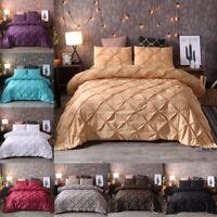 Pintuck Rapport Bedding Sets Luxury Soft Touch Duvet Quilt Cover Pillowcase Set