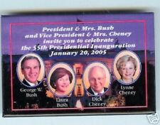 LAURA Bush Lynne Cheney Invitation INAUGURATION 2004 pin