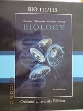 BIOLOGY Text  BIO 111/113 Oakland University  2nd Edition  ISBN: 9780077467159
