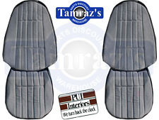 71 Camaro Deluxe Cloth Front Seat Upholstery Covers - Black New PUI