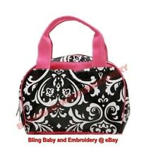 Lunch Tote Bag Cosmetic Chevron Geometric Zebra Damask Leopard Pink Green Camo