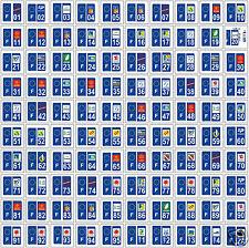 Lot 10 x Stickers immatriculation adhésif région-département 10 au choix