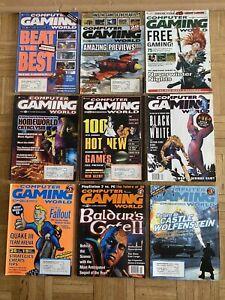Computer Gaming World Magazine Vintage Lot Of 9***YEAR 2000***