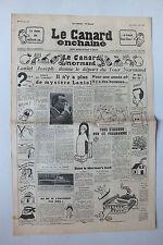 ANCIEN JOURNAL -  LE CANARD ENCHAINE N° 1706 DU 1 JUILLET 1953 *