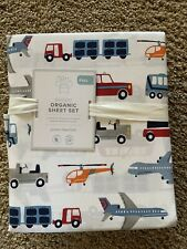 POTTERY BARN KIDS Brody Vehicles FULL 4 Piece Sheets Set NEW