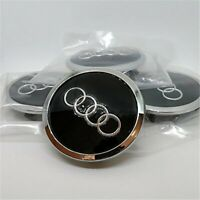 x4 pcs Cache Moyeu Black Glossy Wheel Center Cap For Audi A3 A5 A4 A6 A7 A8 Q7