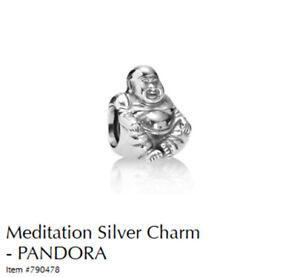 PANDORA Charm Sterling Silver ALE S925 MEDITATION BUDDHA 790478