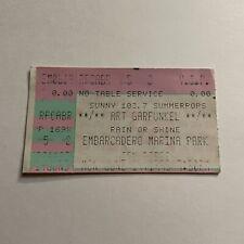 Art Garfunkel Embarcadero Marina Park Concert Ticket Stub Vintage June 1995