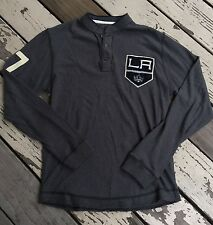 NHL Los Angeles KINGS Hockey • Men's Pullover Henley Shirt by RED JACKET SMALL