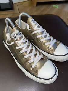 Converse Gold Leather  trainers Size uk 6 Eu 39