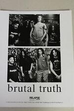BRUTAL TRUTH Press Photo PROMO PHOTO Dan Lilker RELAPSE RECORDS grind
