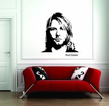 Wall Sticker Decal Vinyl  Interior Design Nirvana Kurt Cobain Rock Music Courtne