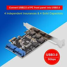 PCI Express PCI-E to USB 3.0 Front Panel 19 Pin Card Adapter Converter Board EM