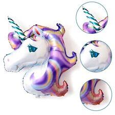 Viola Unicorno Grande Palloncini Ad Elio In Foil Bambini Matrimonio Compleanno