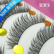 2018 Popular Winged Flase Eyelashes Cross Long beauty eye lashes makeup