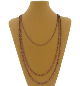 "Ky & Co Copper Tone Layered Chain Multi Strand Necklace  25"" 31"" 32"""