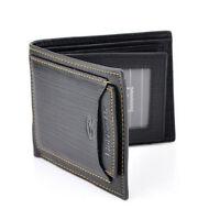 Men's Business Leather Wallet Pocket Card Holder Clutch Bifold Slim Purse Sale