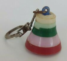 VINTAGE PUZZLE OLD PLASTIC KEY CHAIN KEYCHAIN RING BELL