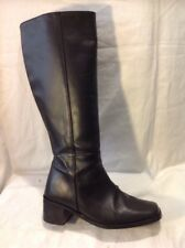 The Shoe Tailor Black Knee High Leather Boots Size 4