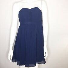 Alfred Angelo Size 8J Strapless Ruched Homecoming Bridemaids Navy Blue Dress