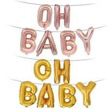 """""""OH BABY"""" Letter Foil Balloons Birthday Party Hanging Event Supplies Balloons.~"""