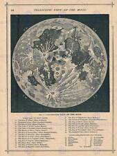 More details for geography map illustrated antique telescopic moon poster art print bb4497b