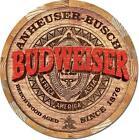 Budweiser Barrel End Beechwood Aged Anheuser Busch Tin Metal Sign Made In USA