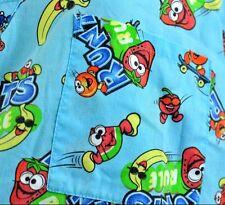 Candy Scrub Top Nestle Runts L Pediatrics Nurse Blue Mock Lightweight