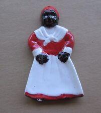 Vintage Black Americana Aunt Jemima Ceramic Wall Hanging Spoon Holder Rest