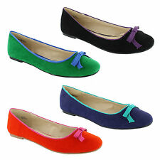 Unbranded Casual Ballerinas Faux Suede Upper Shoes for Women