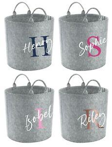 Personalised Name Storage Tub - Customised Toy Bag Basket Box Kids Childrens
