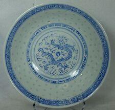 "CHINA Rice Ware DRAGON Motif CX78 Round Vegetable Serving Bowl @ 7-7/8"""