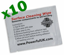 TESA solvent surface cleaner sachet x10 adhesive tape cleaning wipe alcohol x 10
